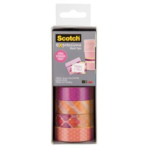 Scotch Expressions Washi Tape 4 Pack Yellow and Purple