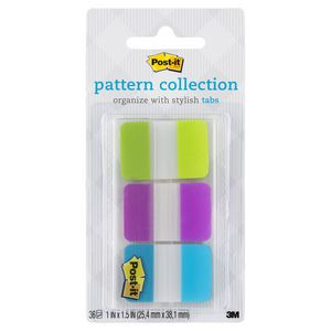 Post-it Pattern Collection Tabs 25 x 38mm 3 Pack
