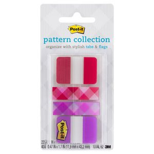 Post-it Pattern Collection Tabs and Flags Red 4 Pack