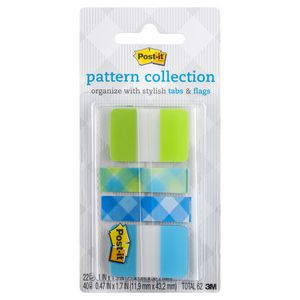 Post-it Pattern Collection Tabs and Flags Blue 4 Pack