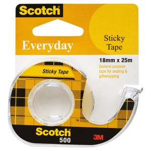 Scotch 500 Everyday Adhesive Tape with Dispenser 18mm x 25m