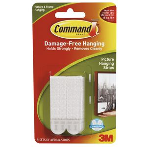 3M Command Picture Hanging Strips 4 Pack