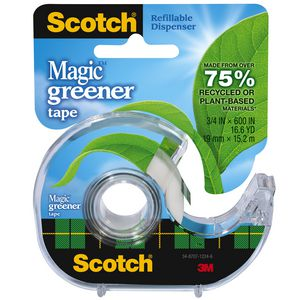 Scotch Magic Eco Adhesive Tape and Dispenser 19mm x 15.2m
