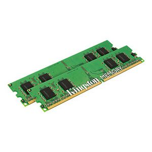 Kingston - Memory - 4 GB : 2 x 2 GB - DIMM 240-pin - DDR2 - 400 MHz / PC2-3200 -