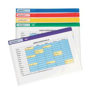 A4 Letter Files Clear 5 Pack