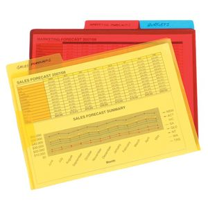 Assorted A4 Flap Letter Files Pk/3