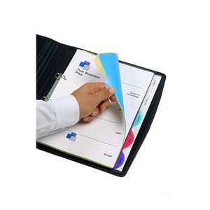 Marbig A4 Transparent Divider with 5 Tab View-Tab Colour