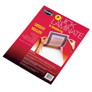 Marbig Quick Laminate Sheets Pk/5