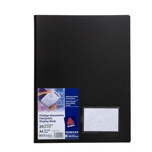 Avery Flexipractic A4 Display Book Black