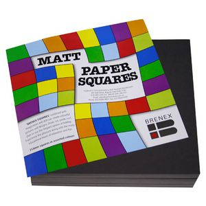 Brenex Paper Squares Matte 254mm Black 360 Pack