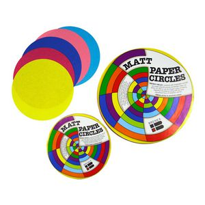 Brenex Paper Circles Matte 180mm Assorted Colours 500 Pack