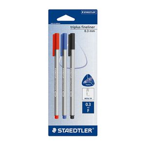 Staedtler Triplus Fineliner 334 Assorted 3 Pack
