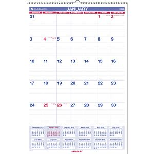 At A Glance Monthly Wall Calendar 2016 508 x 762mm