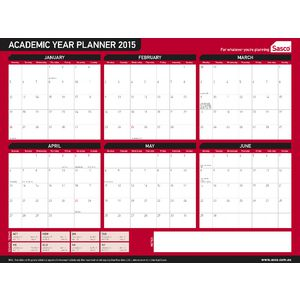 Sasco Academic Planner (Laminated) 2015