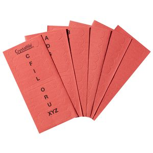 Crystalfile Indicator Tab Inserts A-Z Red 60 Pack