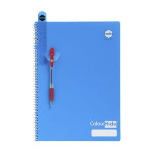 Colourhide A4 Blue PP Cover Spiral Notebook - 120 Page