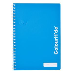 ColourHide My Trusty A4 Spiral Notebook 120 Page Blue