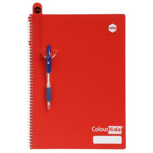 Colourhide A4 Red PP Cover Spiral Notebook - 120 Page