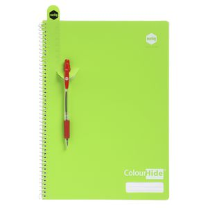 Colourhide A4 Green PP Cover Spiral Notebook - 120 Page