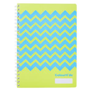 ColourHide My Designer Notebook A4 120 Page Yellow Chevron