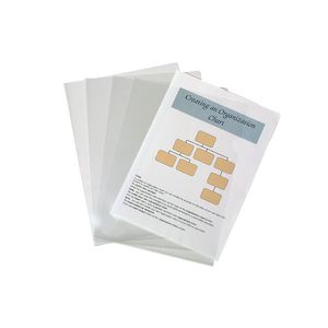 Marbig Letter File A4 Glass Clear 10 Pack