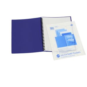 Marbig Display Book A4 Refill Pockets 100 Pack