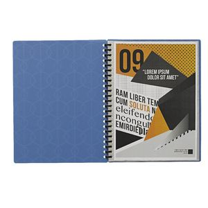 Display Book A4 20 Pocket Refillable Embossed Blue