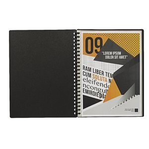 Display Book A4 20 Pocket Refillable Embossed Black