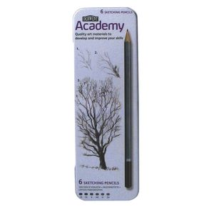 Derwent Academy Sketching Pencils 6 Pack