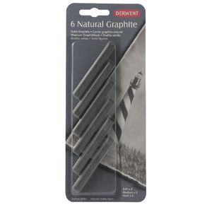Derwent Natural Graphite 6 Sticks