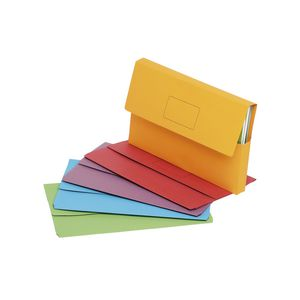 Marbig Foolscap Slimpick Document Wallet Assorted 10 Pack