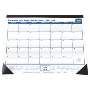 Sasco Financial Year Desk Pad Planner 2014/15