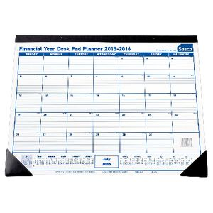 Sasco 15/16 Financial Year Desk Planner Blue