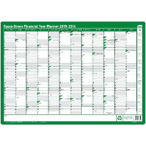 Sasco Financial Year 15/16 Planner Green