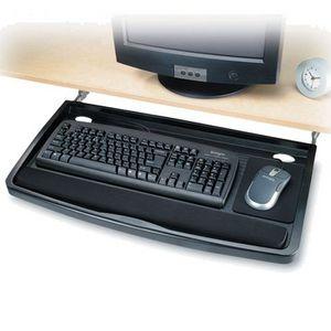 Kensington smartfit underdesk keyboard drawer black officeworks - Officeworks desktop ...