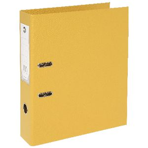 Marbig Foolscap 2 Ring Lever Arch File PVC Yellow