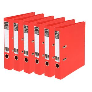 ColourHide A4 2 Ring Half Lever Arch Red 15 Pack