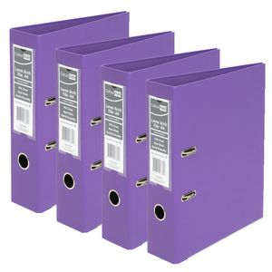 ColourHide A4 2 Ring Lever Arch Purple 12 Pack