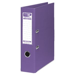 ColourHide Lever Arch Folder A4 2 Ring PE Purple