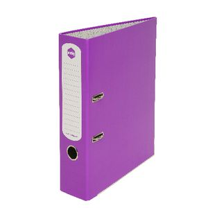 Marbig A4 2 Ring Lever Arch Gloss Purple