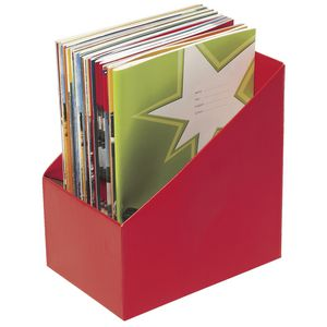 Marbig Book Box Large Red 5 Pack