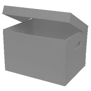 Marbig Corflute Box with Lid Grey