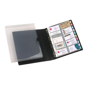 Marbig Business Card Book Case Black
