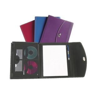 Marbig 5 Pocket Secure Closure Compendium with Notepad Assorted