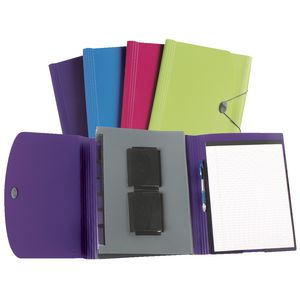 Marbig Colourhide Compendium with Notepad Assorted