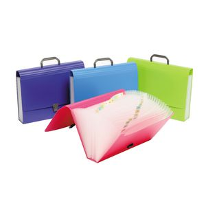 Marbig Foolscap 26 Pocket Expanding File Assorted