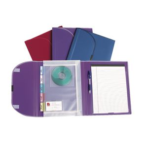 Marbig 5 Pocket Compendium with Notepad Assorted