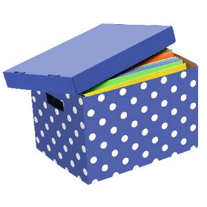 Marbig Patterned Archive Box Purple and White