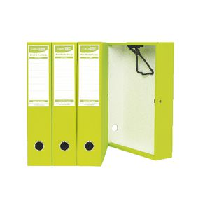 ColourHide Foolscap Box File Lime 4 Pack