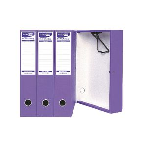 ColourHide Foolscap Box File Purple 4 Pack